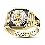 King Of American Silver 1878 Morgan Silver Dollar Inspired Ring