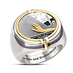 Pride And Brotherhood The Veterans Memorial Silver Coin Ring