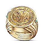 Alfred Durante Brasher Doubloon Proof Eagle Coin Ring