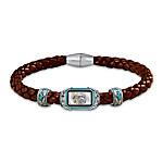 The Indian Head Ingot Men's Leather Bracelet