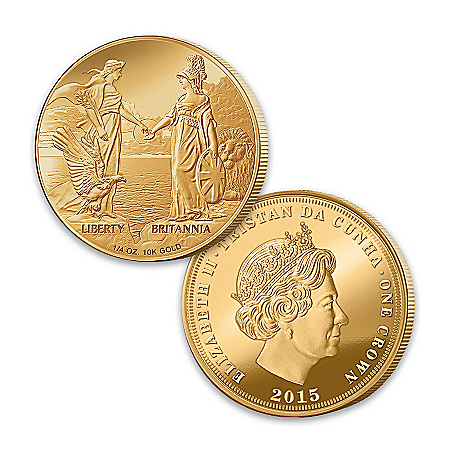 The First-Ever Liberty And Britannia Gold Crown 2015 Collectible Coin