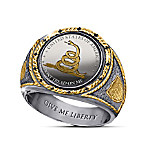 Don't Tread On Me Silver Proof Ring