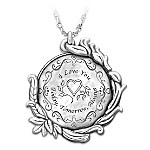 Today, Tomorrow And Always Love Token Pendant Necklace In Sterling Silver