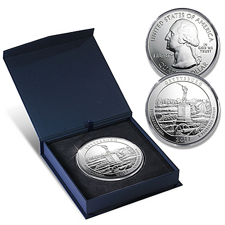 The 2011 Gettysburg National Park 5 Oz Silver Quarter Bullion Coin