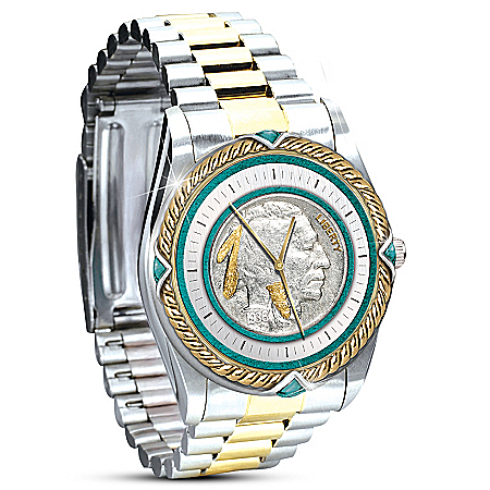 Indian Head Nickle Two-Toned Men's Watch