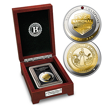 Alabama Crimson Tide College Football Championship Silver Proof Coin