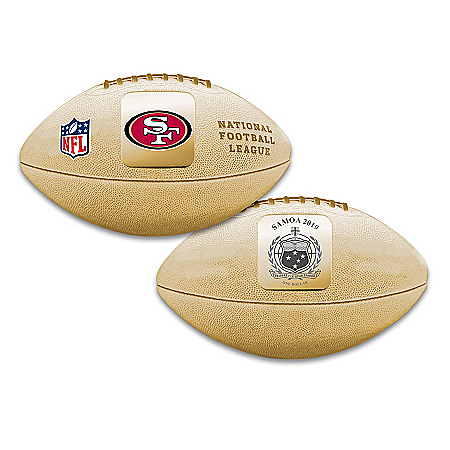 World's First San Francisco 49ers 3D Football Coin