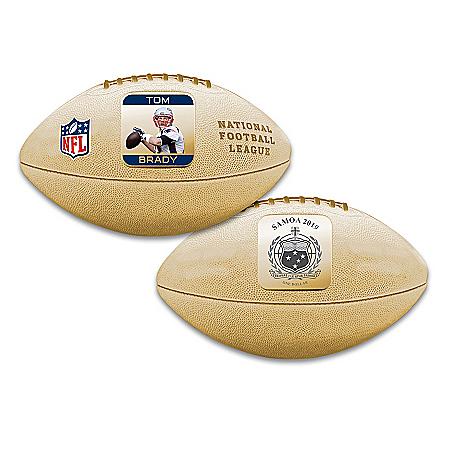 World's First Tom Brady 3D Football Coin