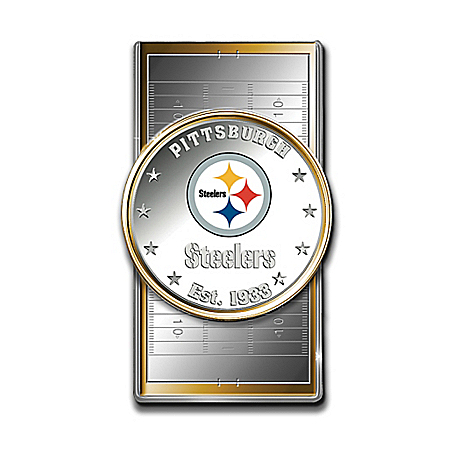 Official NFL Pittsburgh Steelers Silver Dollar Money Clip
