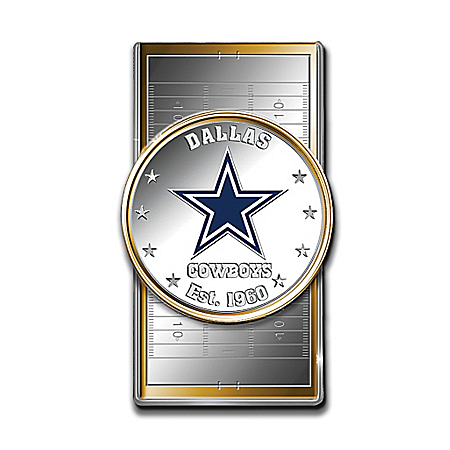 Official NFL Dallas Cowboys Silver Dollar Money Clip