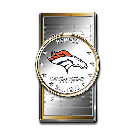 Official NFL Denver Broncos Silver Dollar Money Clip
