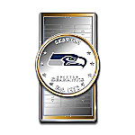 Official NFL Seattle Seahawks Silver Dollar Money Clip