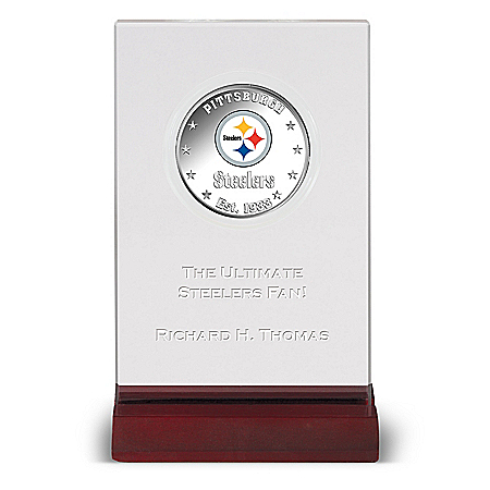 Pittsburgh Steelers NFL Legal Tender Silver-Plated Dollar Coin With Personalized Display