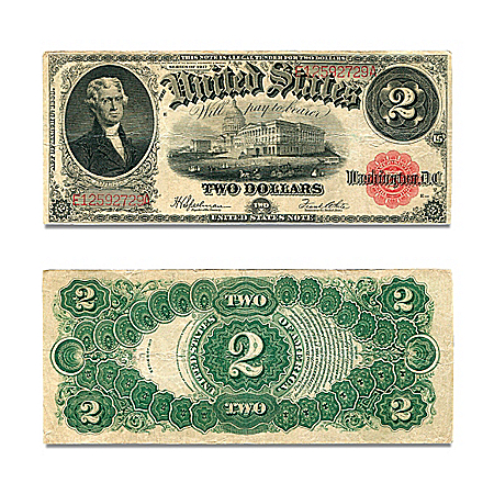 1917 $2 Jefferson United States Note