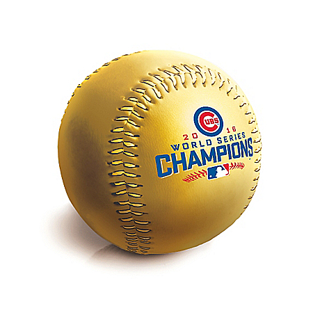 Official Cubs 2016 World Series Championship Baseball Shaped Coin