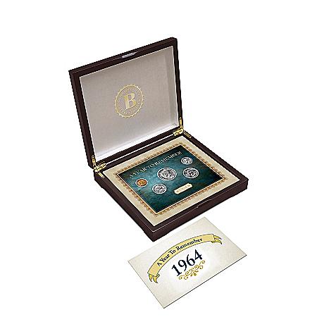 Personalized Birth Year U.S. Coin Set With Custom Display Box