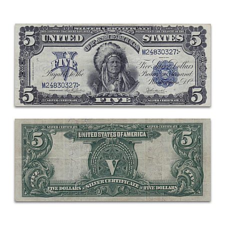Series Of 1899 $5 Silver Certificate: Indian Chief Note Currency