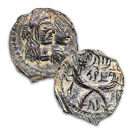 The Nabatean Bronze Prutah Biblical Genuine Ancient Coin