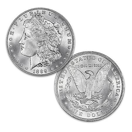 Genuine 1899 O Morgan Silver Dollar with Micro O Error: Includes Display Box