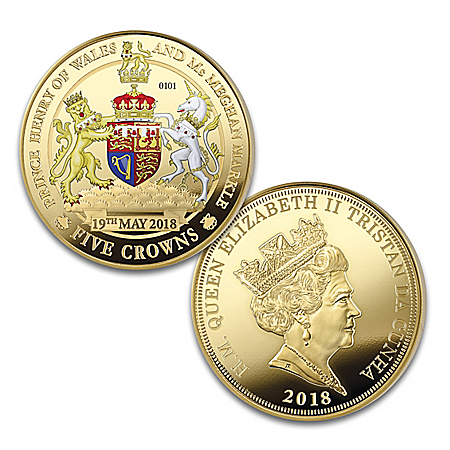 The Royal Wedding Legal Tender Five Crown Proof Coin