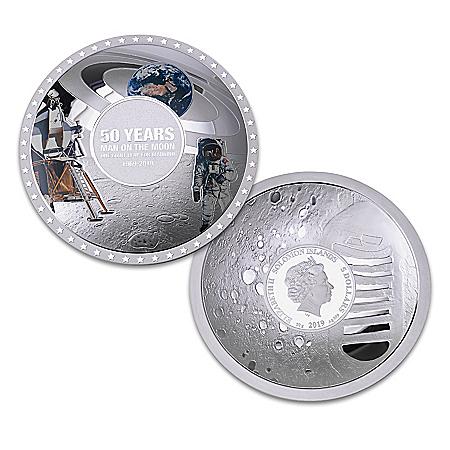Apollo 11 50th Anniversary Dome-Shaped Silver Coin