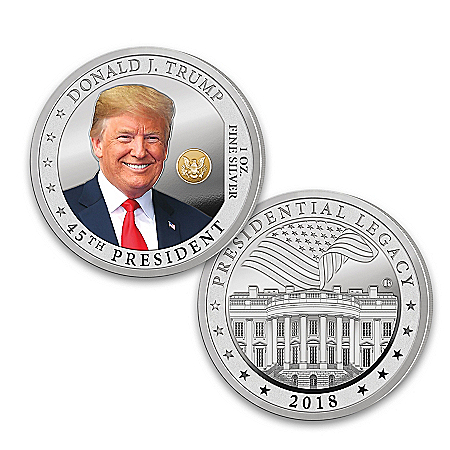 The President Trump Silver Proof Coin With Display Box