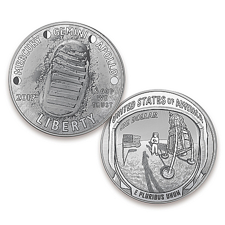 First Strike Apollo 11 50th Anniversary Curved Silver Dollar