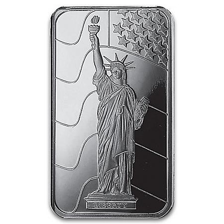 Lady Liberty 10-Gram Silver Bullion Ingot By PAMP SUISSE