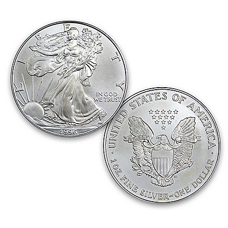 The 1996 Rarest Year Of Issue Uncirculated Condition Silver Eagle Coin