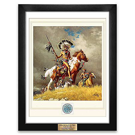 Frank McCarthy Framed Artwork With Mined Turquoise Gemstone