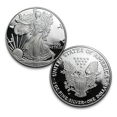 2007 Proof Silver Eagle Dollar With Original Reverse Design