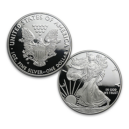 Rare First-Ever New Design 2008 Silver Eagle Proof Coin