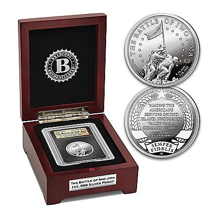 Iwo Jima 1 Oz. Silver Proof Coin With Genuine Iwo Jima Sand