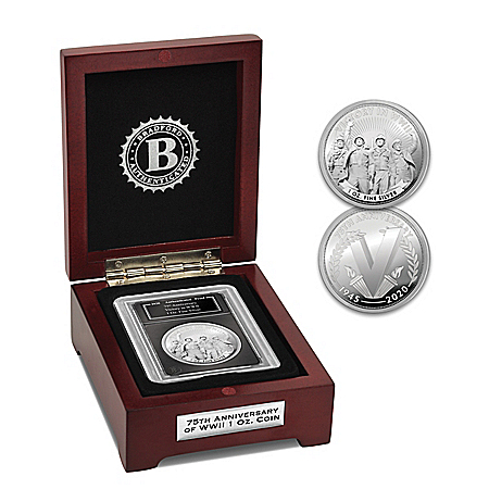 WWII Victory 75th Anniversary Silver Proof With Display Box