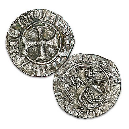 Genuine Venetian Tornicoelli Ancient Coin And Display Box