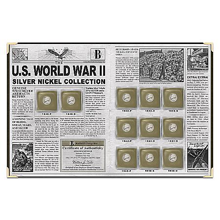 U.S. World War II Silver Nickel Coin Set With Deluxe Folio