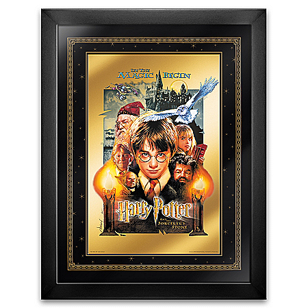 HARRY POTTER 24K Gold Framed Movie Poster