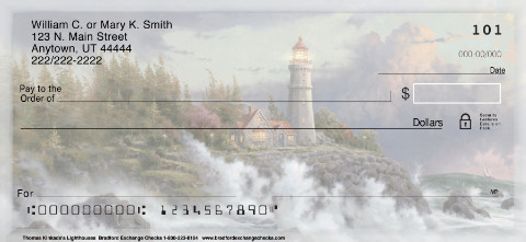 Christian Checks - Thomas Kinkade's Lighthouses Inspirational Christian Check Designs