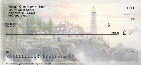 Thomas Kinkade's Lighthouses Inspirational Christian Personal Checks