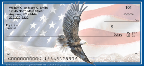 Patriotic Eagle & Flag Checks