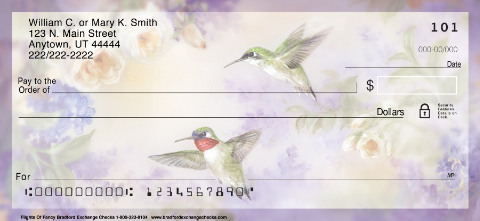 Lena Liu's Flights of Fancy Hummingbird Check Designs