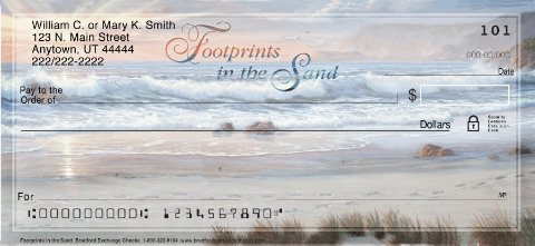 Footprints in the Sand Personal Checks