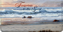 Footprints in the Sand Inspirational Religious Checkbook Cover