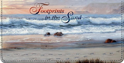 Footprints in the Sand Checkbook Cover
