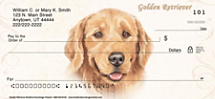 Golden Retriever Dog Personal Checks