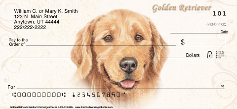 Golden Retriever Dog Checks Designs