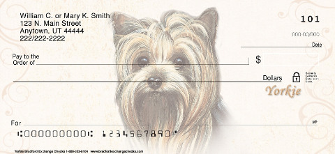 Yorkie Dog Personal Checks
