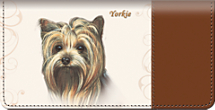 Yorkie Dog Checkbook Cover