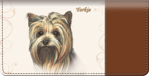 Yorkie Checkbook Cover