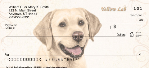 Yellow Lab Personal Checks